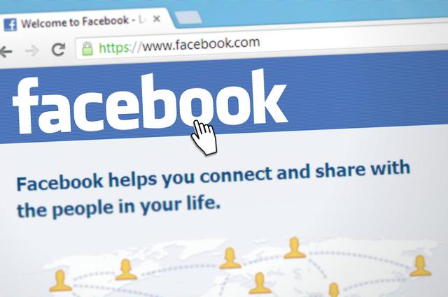 domovská stránka Facebook